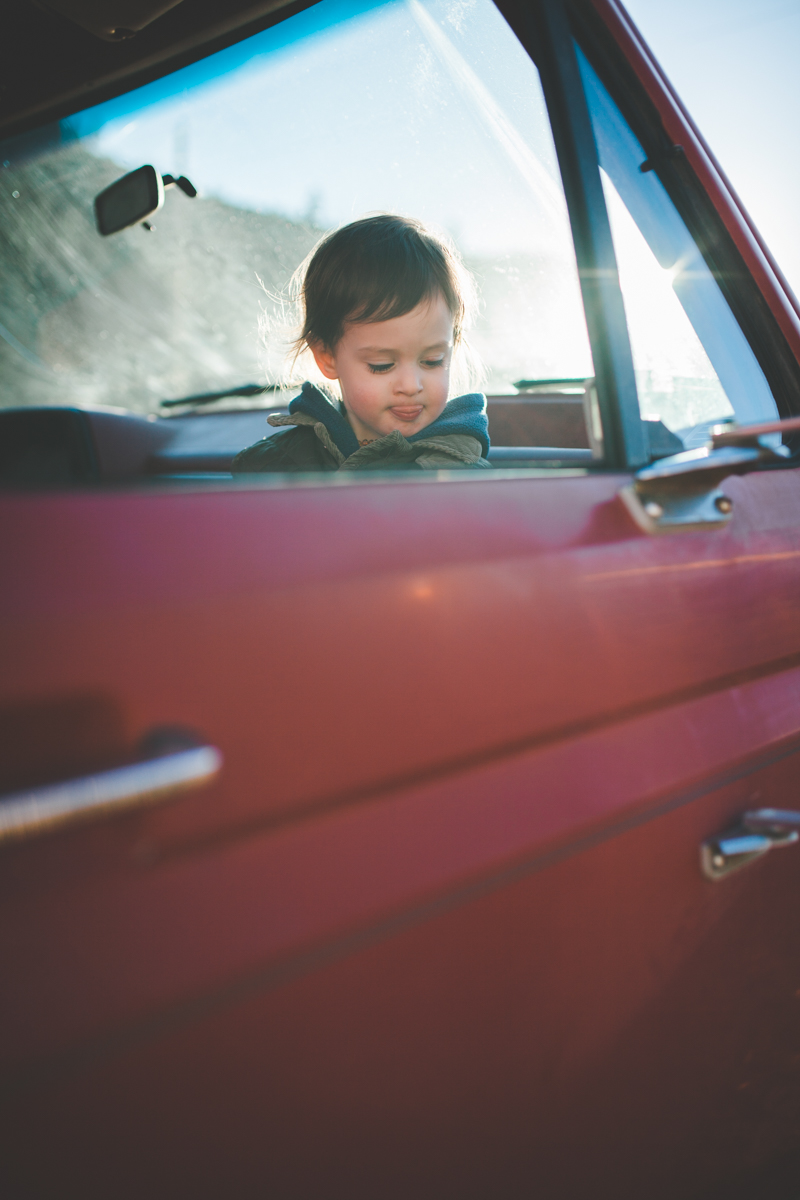 Maternity Young Son Red Truck Missoula Photographer